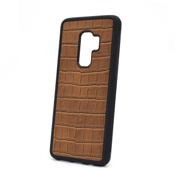 Benutzerdefinierte Logo Crocodile Leather Phone Case für Samsung