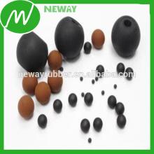 Fabricación de la fábrica de China Modifique la bola de goma resistente al calor del OEM para requisitos particulares