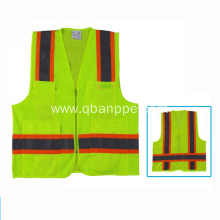 silver light tape yellow pocket vest biocolor