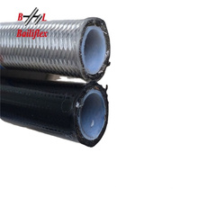 stainless steel braided cover convoluted smooth PTFE hose R14