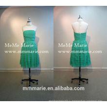 короткие вечерние модели партии зеленых слоистых длиной до колен платье невесты платье партии девушки