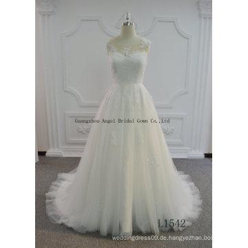Hot Sale A Line Tüll Brautkleid mit Schlüsselloch zurück