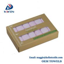 Arandelas de 10x10 pulgadas 100% Toallita de regalo de bambú para bebé Paquete de 6