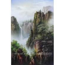 Огромная картина ландшафта ландшафта водопада (ETL-103)