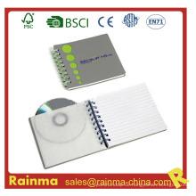 Spiral Notebook mit CD Tasche