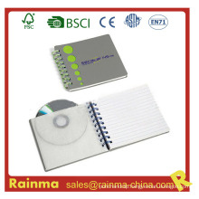 Spiral Notebook with CD Pocket