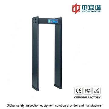 Inspeção corpo humano 200 sensibilidade nível detector de metal digital com proteção por senha