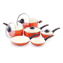 Amazon Vendor 10 Pieces Aluminum Alloy Nonstick Ceramic Cookware Set