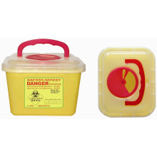 Contenedor Sharp plástico desechable medicinal 5.0L