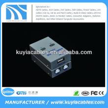 USB 2.0 Interruptor de partilha automática Interruptor USB 2 PC para 1 Impressora / Scanner