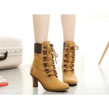 As mulheres as mais atrasadas do metal do projeto as botas marrons muito baratas da porcelana muito