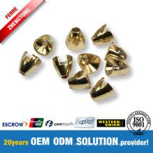 Grânulos banhados a ouro de Conehead de tungstênio