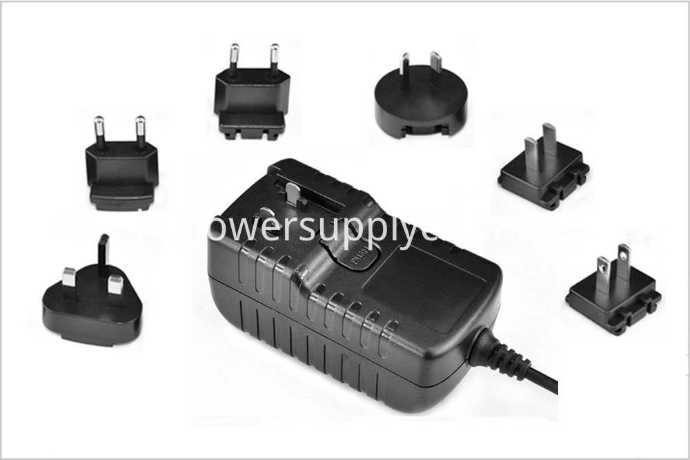 Interchangeable plug power adapter 36W