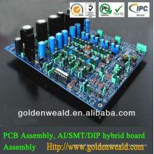 aumenta el ensamblaje de PCB FR4 con 3 oz cooper contactos pcb electrónicos fabricante