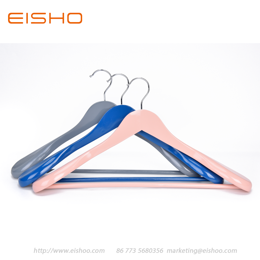 7 Eisho Colorful Wood Suit Coat Hanger