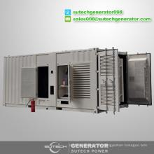 Offener oder geräuscharmer 1800kW Dieselgeneratorpreis angetrieben durch japanischen Mitsubishi-Motor S16R2-PTAW