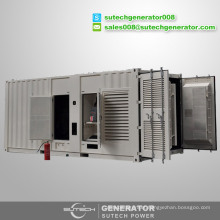Containerized silent type 1500kw diesel generator price powered by Mitsubishi engine S16R-PTA2
