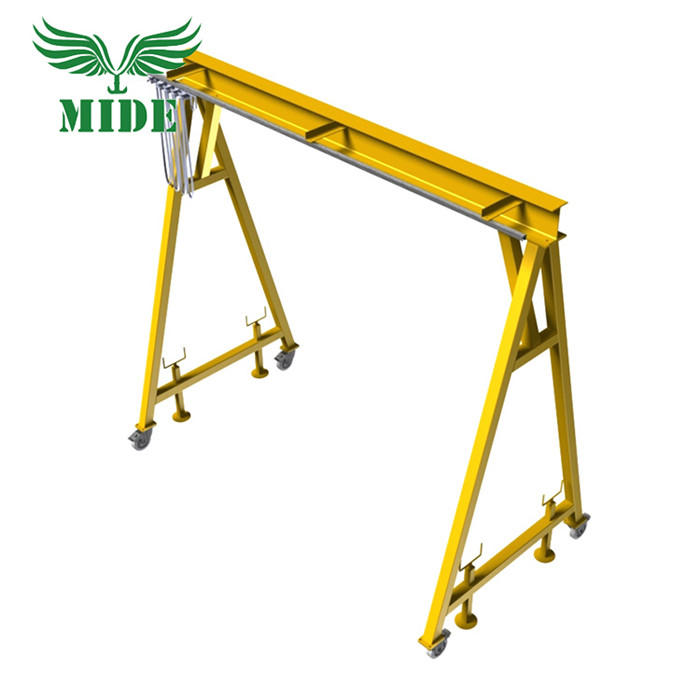 Small Portable Gantry Crane 500kg With Hoist