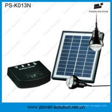 Sistema de energía Solar Mini portátil 4W para zonas rurales iluminación