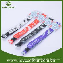 Gewebe Polyester benutzerdefinierte rfid Armband für Veranstaltungen