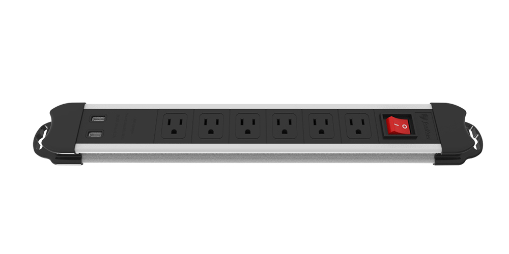 6-outlet Power Strip with USB Ports