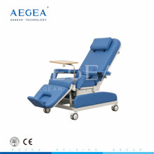 AG-XD205 color azul manual del paciente del hospital silla de donación de sangre