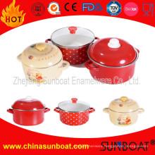 Sunboat Enamel Kitchenware Set Enamel Cast Iron Casserole