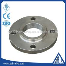 Bride filetée en acier inox standard ISO