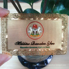 Brass Metal Card VIP Card Membership Card