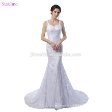 Mermaid Lace Wedding Dresses With Spaghetti Straps Sweetheart Key Hole Open Back Vintage Exquisite Wedding Gown Bride Dress