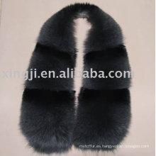 Cuello de piel de zorro real