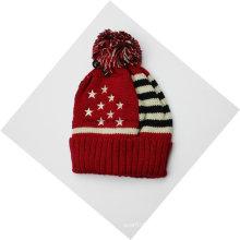 Bandera del país Invierno cálido de punto de goma Beanie Skull Hat / Cap