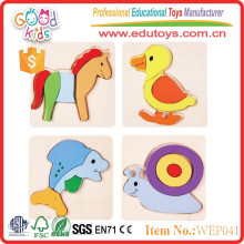 2015 top selling products cute animal wooden 3D puzzle