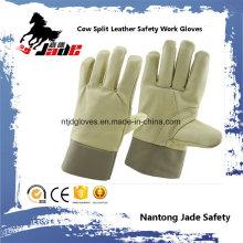 Manteau en cuir de vachette Gant de travail pour la sécurité industrielle en cuir