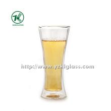 Bouteille en verre double par BV, SGS (Dia7.5cm, H: 17.8cm, 380ml)