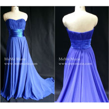 [In Stock] Royal Blue Sweetheart Strapless Empire Waist Prom Evening Gown with Ribbon Band BYE-14050