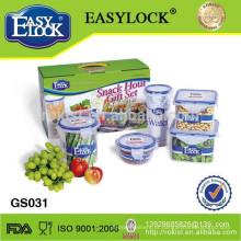 conjunto de recipiente de armazenamento de alimentos de plástico natal