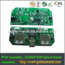la base en aluminium a mené l'Assemblée de carte PCB de guichet unique de la LED pcba pour la production d'OEM de sécurité d'avions