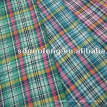 100% хлопок ткани пряжи, окрашенной в цвет ткани рубашки для мужская рубашка