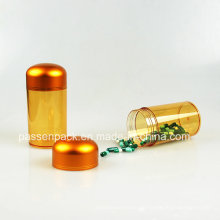 Bernstein Plastikflasche für Tablettenverpackung (PPC-PETM-018)