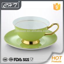 Fine Bone China bunte Tee Tasse und Untertasse gesetzt