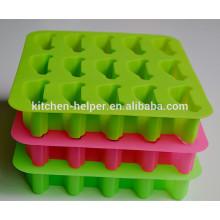 China Profissional fabricante Eco-friendly Food Grade bonito Anti-poeira Anti-stick Square Car forma de silicone Ice / bandeja de gelo