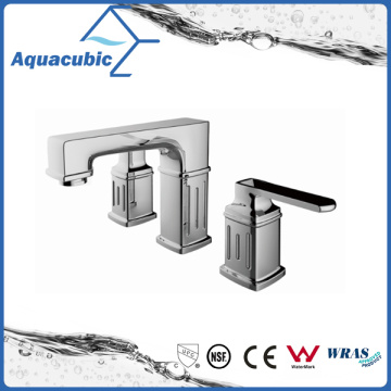 Chromed Three Hole Basin Faucet Brass Lavatory Faucet (AF0025-6)