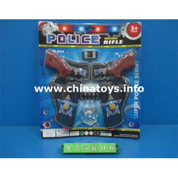 Jeu de police de jouets en plastique de promotion bon marché (975606)