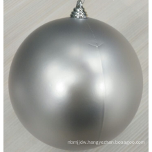Hot Selling 8inch Silver Christmas Plastic Ball Ornaments