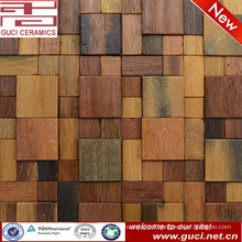 Wooden Floor Mosaics 300X300wood finished mosaic tile
