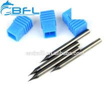 BFL-Schaftfräser zum Schneiden von Gold, Hartmetall-Miniatur-Schaftfräser zum Schneiden von Kupfer
