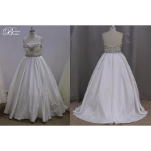 Plus Size Beading Pretty Stain Wedding Dress