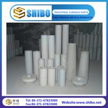 Taille personnalisée de 99% de pureté Tubes en céramique d'alumine Tubes en alumine