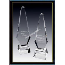 Large Crystal Obelisk Award Paramount Tower 12 Inch Tall